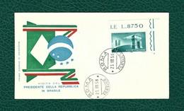 ITALIA 1958 - FDC - Visita Del Presidente Della Repubblica In Brasile - 175 L. - Unificato 837 - F.D.C.