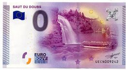 Billet Touristique Souvenir 0 Euro : Saut Du Doubs - Essais Privés / Non-officiels