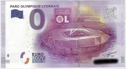 BILLET EURO TOURISTIQUE PARC OLYMPIQUE LYONNAIS  (2016-1) N°UEFJ002156 - EURO