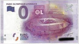 BILLET EURO TOURISTIQUE PARC OLYMPIQUE LYONNAIS  (2016-1) N°UEFJ002157 - EURO