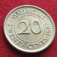 Mauritius 20 Cents 1987  Mauricia Maurice UNCºº - Mauritius