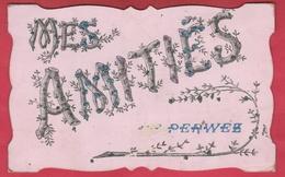 Franière - Mes Amitiés De ... Jolie Carte Fantaisie Décorée De Brillants - 1907 ( Voir Verso ) - Perwez