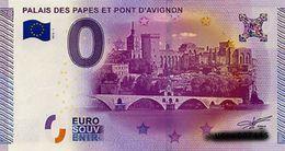 BILLET EURO TOURISTIQUE PALAIS DES PAPES ET ONT D'AVIGNON  (2015-1) N°UEDV006356 - EURO