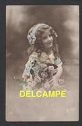 DF / ENFANTS / FILLETTE ET FLEURS / CIRCULÉE EN 1914 - Ritratti