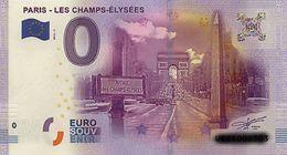 BILLET EURO TOURISTIQUE PARIS-LES CHAMPS ELYSEES   (2016-1) N°UECZ002625 - EURO