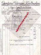86- POITIERS- BELLE FACTURE LABORATOIRES GALENIQUES DES TROIS BOURDONS- PHARMACIE- PHARMACIEN-104 AV. BORDEAUX-1950 - Old Professions