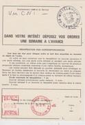 FRANCE 1989 EMA  WITTELSHEIM ORDRE DE REEXPEDITION  TEMPORAIRE  DU COURRIER - Marcophilie (Lettres)