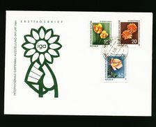 A4951) Blumen Flower FDC DDR Mi.854-856 - Pflanzen Und Botanik