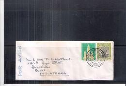 Air Mail Little Cover From Venezuela To England - Venezuela
