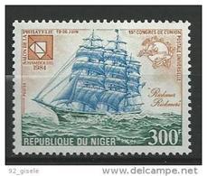 "Niger YT 650 "" Bateau : Congrès De L'UPU "" 1984 Neuf** - Níger (1960-...)"
