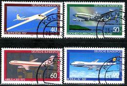 BRD - Michel 1040 / 1043 - Zentrisch OO Gestempelt (F) - Luftfahrt, Jugend 80 - [7] West-Duitsland