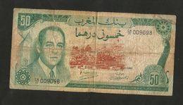 MAROCCO - BANQUE Du MAROC - 50 DIRHAMS (1970) - Marocco