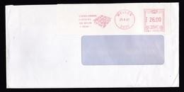 Belgium: Cover, 1987, Meter Cancel Neven-Lemmens Plastics, Plastic Packing Material, Industry (backflap Missing) - Brieven En Documenten