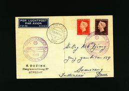 A4954) Niederlande Karte Von Utrecht 13.12.48 Nach Java - 1891-1948 (Wilhelmine)