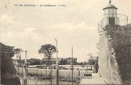 - Charente Maritime -ref-G574- Ile D Oleron - Le Chateau -port -cabanes Ostreicoles- Ostreiculture - Phare - Braun N°322 - Ile D'Oléron