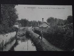 CHEVREUSE (Yvelines) - PAYSAGE Des BORDS De L'YVETTE Et L'USINE à GAZ - Voyagée Le 11 Septembre 1915 - Auffargis