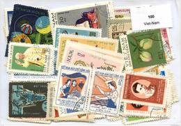 Lot 100 Timbres Viet-Nam - Timbres