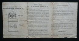 Istruzione Per L'Uso Del Petardo Offensivo P.O. Pieghevole Chiattone Milano WW1 - Old Paper