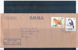 O.H.M.S. Cover From Aitutaki To Belgium - 1980 - Birds (to See) - Aitutaki