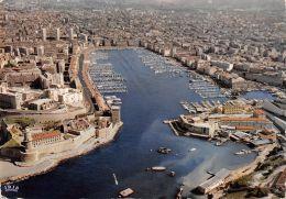 Marseille (13) - Vue Aérienne Du Vieux Port - Le Fort Saint Jean Et Le Fort Saint Nicolas - Marseilles