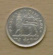 ÉTHIOPIE - ABYSSINIE - MÉNÉLIK II 1 Gersh EE1895 1903 Sup En Argent - Ethiopia