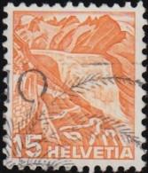 SWITZERLAND - Scott #231 Rhone Glacier / Used Stamp - Svizzera