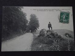 SAINT-REMY-LES-CHEVREUSE à CHEVREUSE (Yvelines) - La PROMENADE Du CLAIREAU - Animée - Voyagée Le 2 Février 1914 - Auffargis