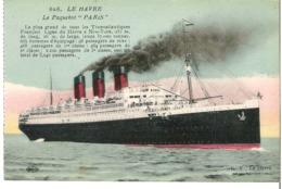 "PAQUEBOT   ""Paris""   Ligne Le Havre - New York - Piroscafi"