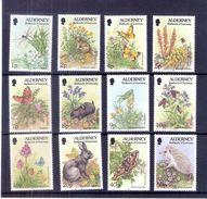 Alderney - 1994 - 12 Timbres Nature - XX/MNH - Alderney