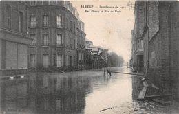ELBEUF - Inondations De 1910 - Rue Henry Et Rue De Paris - Elbeuf