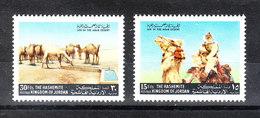 Giordania   -  1972. Vita Nel Deserto. Cammelli  E  Cammelliere. Life In The Desert. Camels And Camel Driver. MNH - Briefmarken