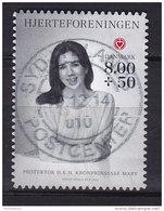 Denmark 2012 Mi. 1713  8.00 Kr. + 0.50 Ø Heart Herz Organization Princess Mary (Booklet Markenheftchen) Deluxe Cancel !! - Dänemark