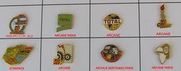 8 Pin's TOTAL Signés - Brandstoffen