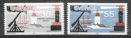 1969 Lighthouses, Set Of 3, Mint Light Hinged - Sweden