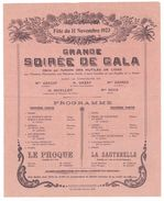 Feuillet Programme Grande Soirée De Gala, Union Des Mutilés De L'Oise 11 Novembre 1923 - Programmes