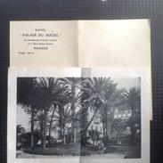 """MW. 53. Petite Feuille Publicitaire Avec Photo De L'Hotel """" Palais Du Soleil"""" à Menton - Publicités"""
