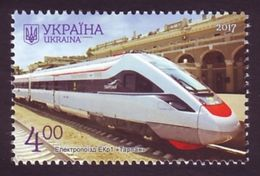 UKRAINE 2017. POLTAVA REGION. ELECTRIC TRAIN EKr1 ''TARPAN'', RAILWAY STATION. Mi-Nr. 1634. MNH (**) - Ucraina