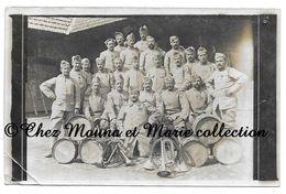 WWI - LES MUSICIENS DU 21 EME REGIMENT - CLAIRONS ET TAMBOURS - CARTE PHOTO MILITAIRE CPA - Guerre 1914-18