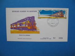 Mauritanie Année 1971 Train 296 A Sur Enveloppe 1er Jour - Mauritania (1960-...)