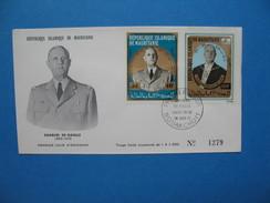 Mauritanie Année 1971 De Gaulle 293 Et 294 Sur Enveloppe 1er Jour - Mauritania (1960-...)