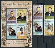 St Christophe ** N° 304 à 307 - Bloc N° 3 - Sir Winston Churchill - - Central America