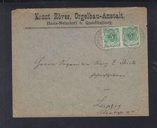 Dt. Reich Paar Auf Brief 1897 Haus-Neudorf Nach Leipzig - Deutschland