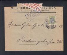 Niederlande Brief 1915 Nach Ludwigshafen Zensur - Period 1891-1948 (Wilhelmina)