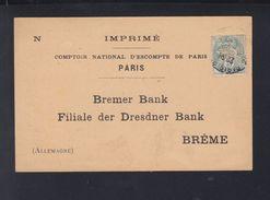 France Imprime Comptoir National D'Escompte De Paris Perfin - Poststempel (Briefe)