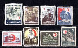 1946 TURKEY ACHIEVEMENTS OF THE RED CRESCENT MNH ** - 1921-... Republik