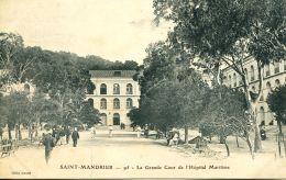 N°58229 -cpa Saint Mandrier -la Grande Cour De L'Hôpital Maritime- - Saint-Mandrier-sur-Mer