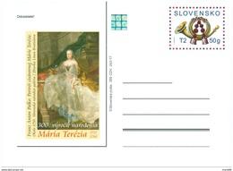 Slovakia - 2017 - 300th Anniversary Of Birth Of Maria Theresia - Postcard With Hologram - Interi Postali