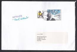 Belgium: Cover To Austria, 1997, 2 Stamps, Oscar Bonnevalle, Illustrator, Bird, Buzin (minor Damage) - Storia Postale
