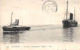 """LE HAVRE - """"Le Titan"""" Remorquant La """"Savoie"""" - Autres"""