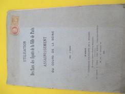 """Monographie/ """"Utilisation Des Eaux Des Égouts De La Ville De Paris/Assainissement Du Cours De La Seine/1873  MDP63 - Historical Documents"""